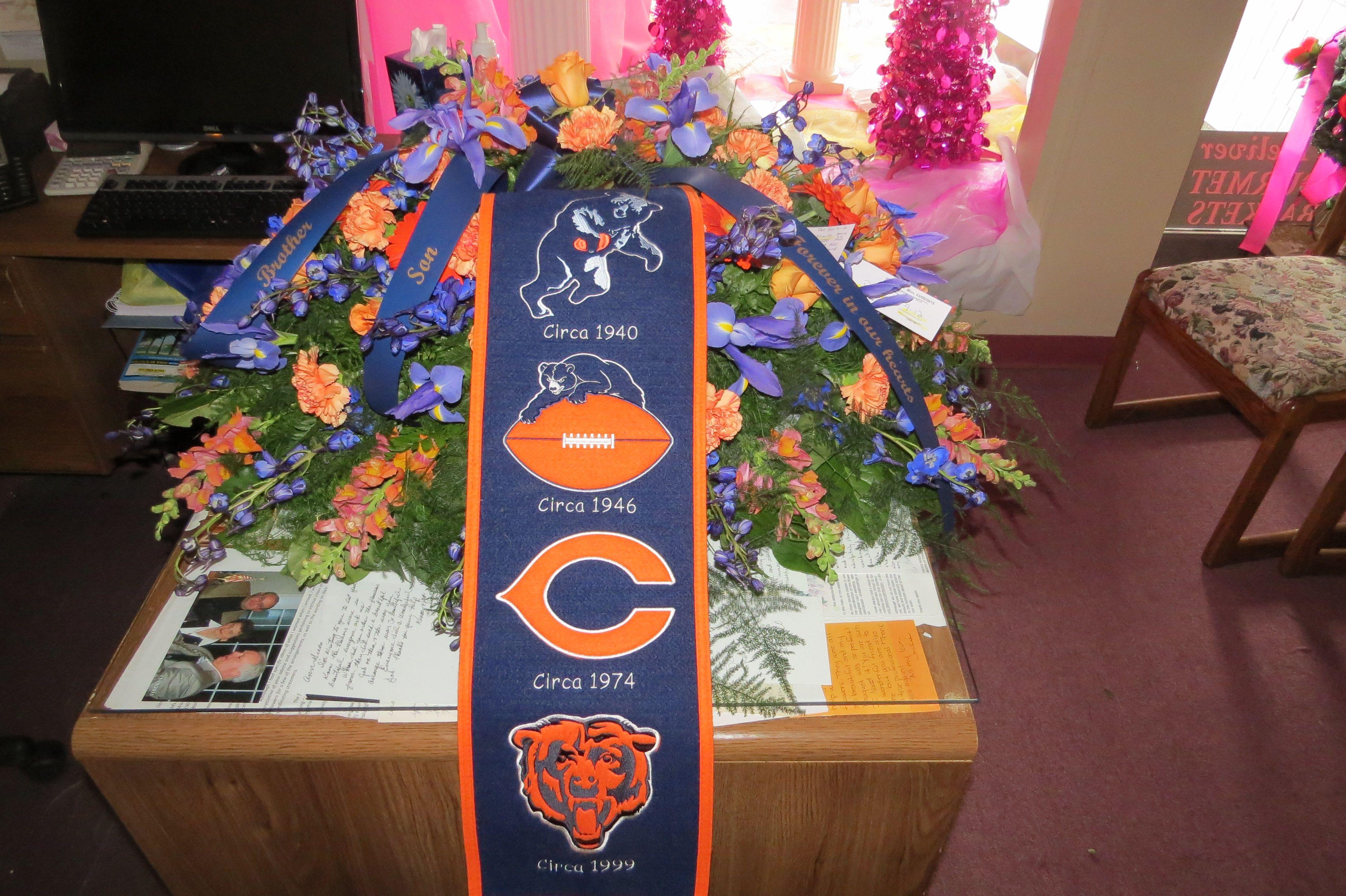 Custom funeral flowers by wallingford flowers wallingford ct custom funeral flowers by wallingford flowers wallingford ct chicago bears izmirmasajfo