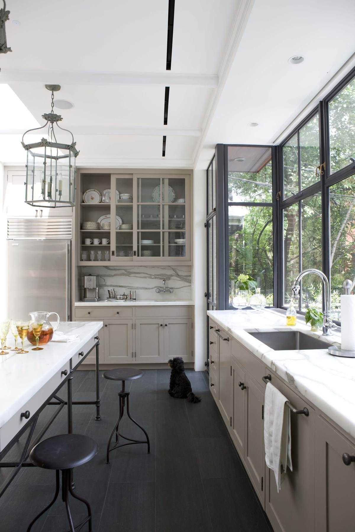Brooklyn rowhouse robinson grisaru architecture pc photo melanie acevedo archinect also black kitchen cabinets design ideas pinterest rh