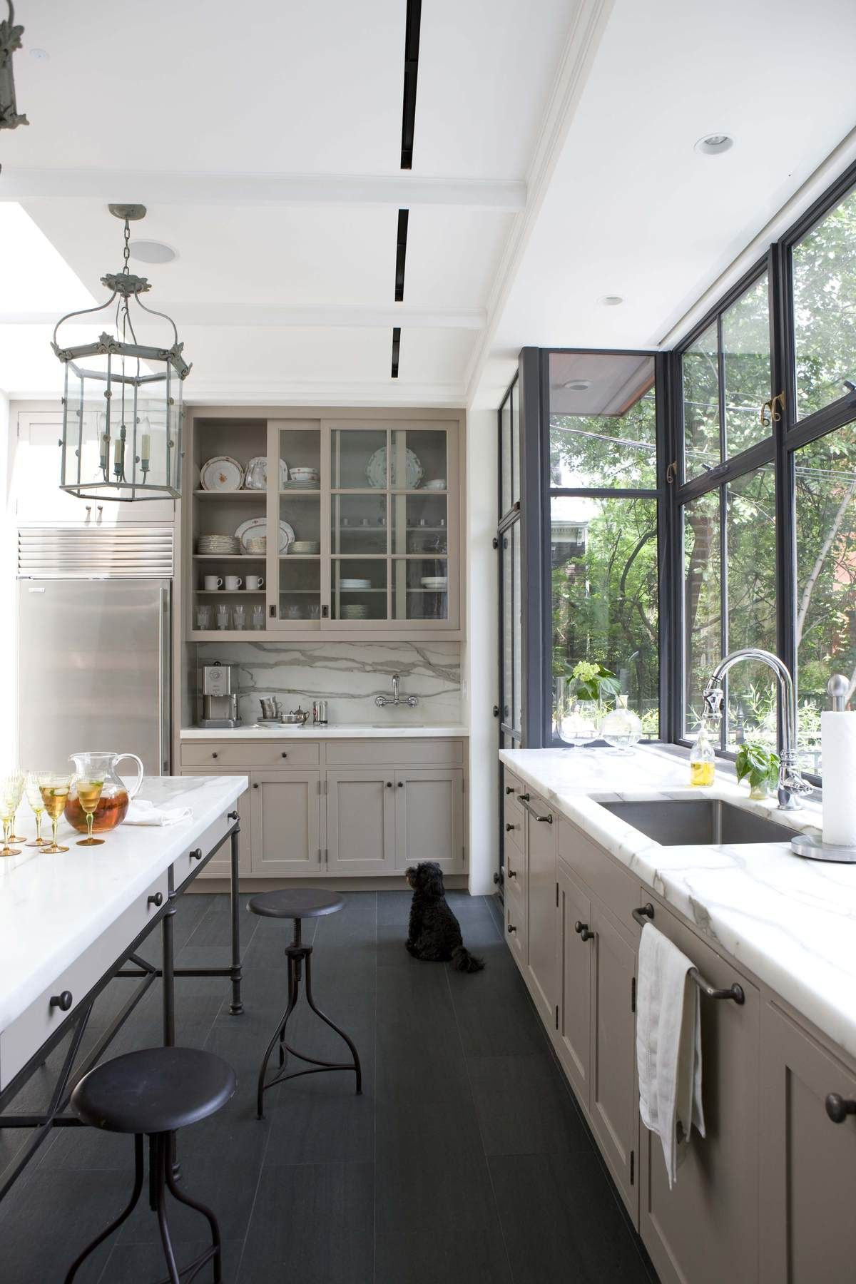 Brooklyn rowhouse robinson grisaru architecture pc archinect also floors grey kitchen designs decor rh pinterest