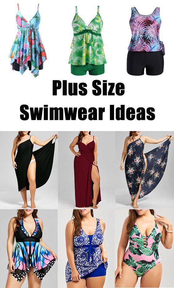 Plus Size Swimwear Outfit Ideas In 2019 Plus Size Swimwear Fashion