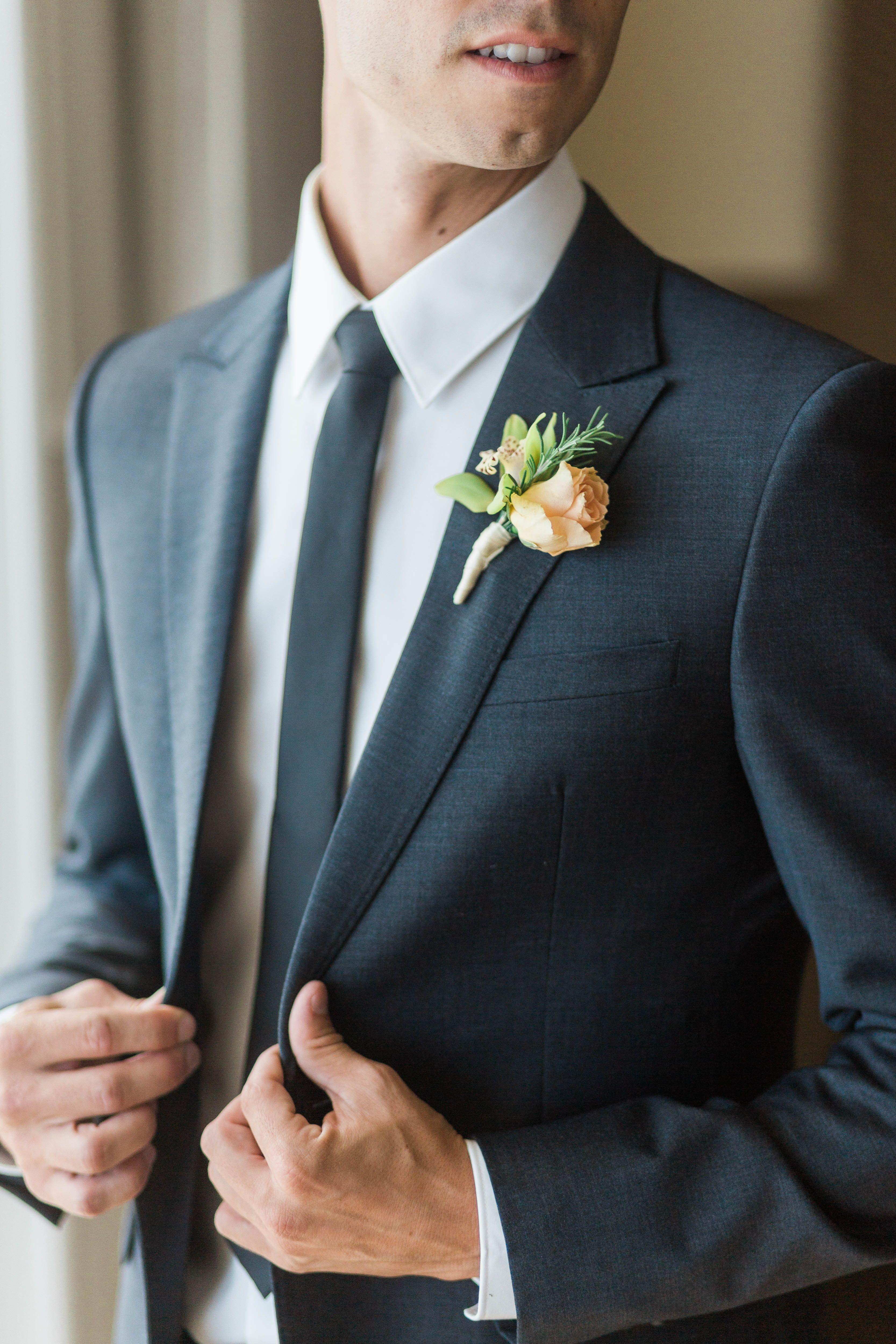 Elegant hawaii summer wedding groom attire handsome