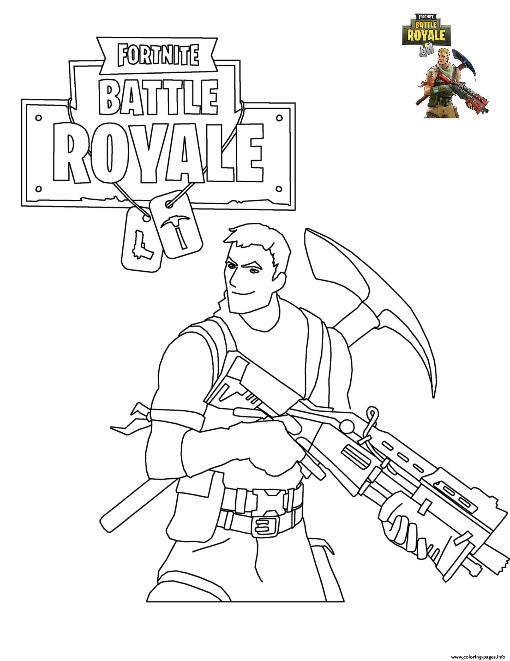 Print Fortnite Battle Royale Coloring Pages Party In 2019