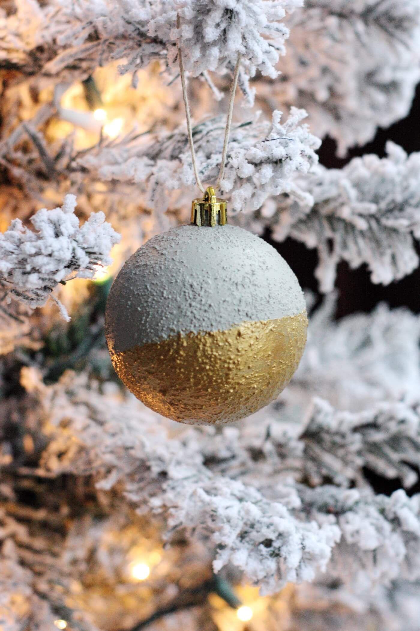 Gold-Dipped Faux Concrete Ornaments