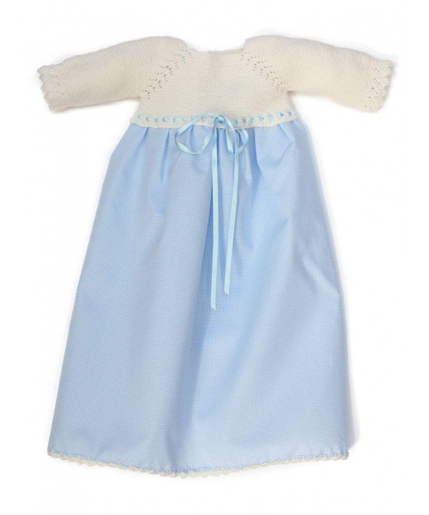 9398f32b8 Faldón de bebé DESCARGAR PATRON hecho con lana 100% merino Baby Wool de  Lanas Stop