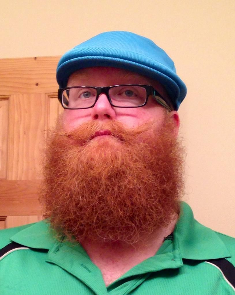 full thick bushy red beard and mustache beards bearded man men glasses ginger redhead