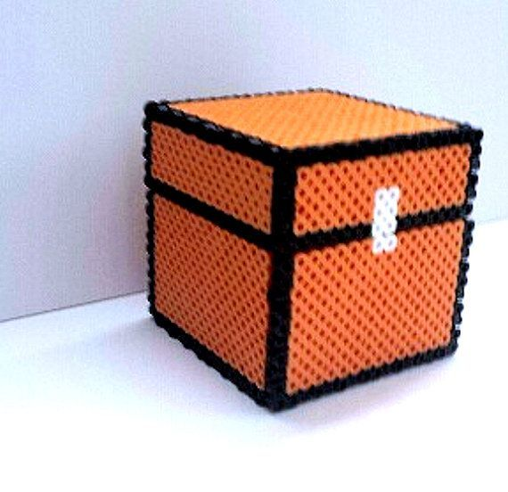 perler bead minecraft chest this fully functional. Black Bedroom Furniture Sets. Home Design Ideas