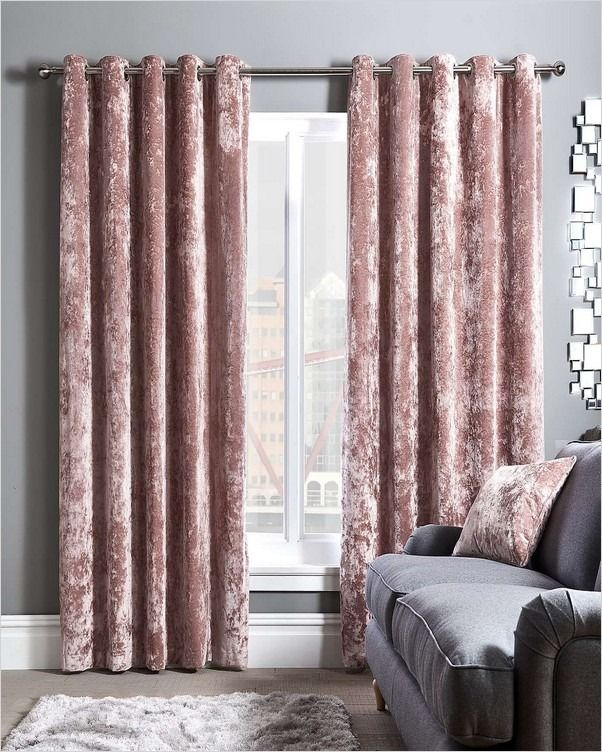 Pink Crushed Velvet Curtains In 2020 Velvet Curtains Curtains