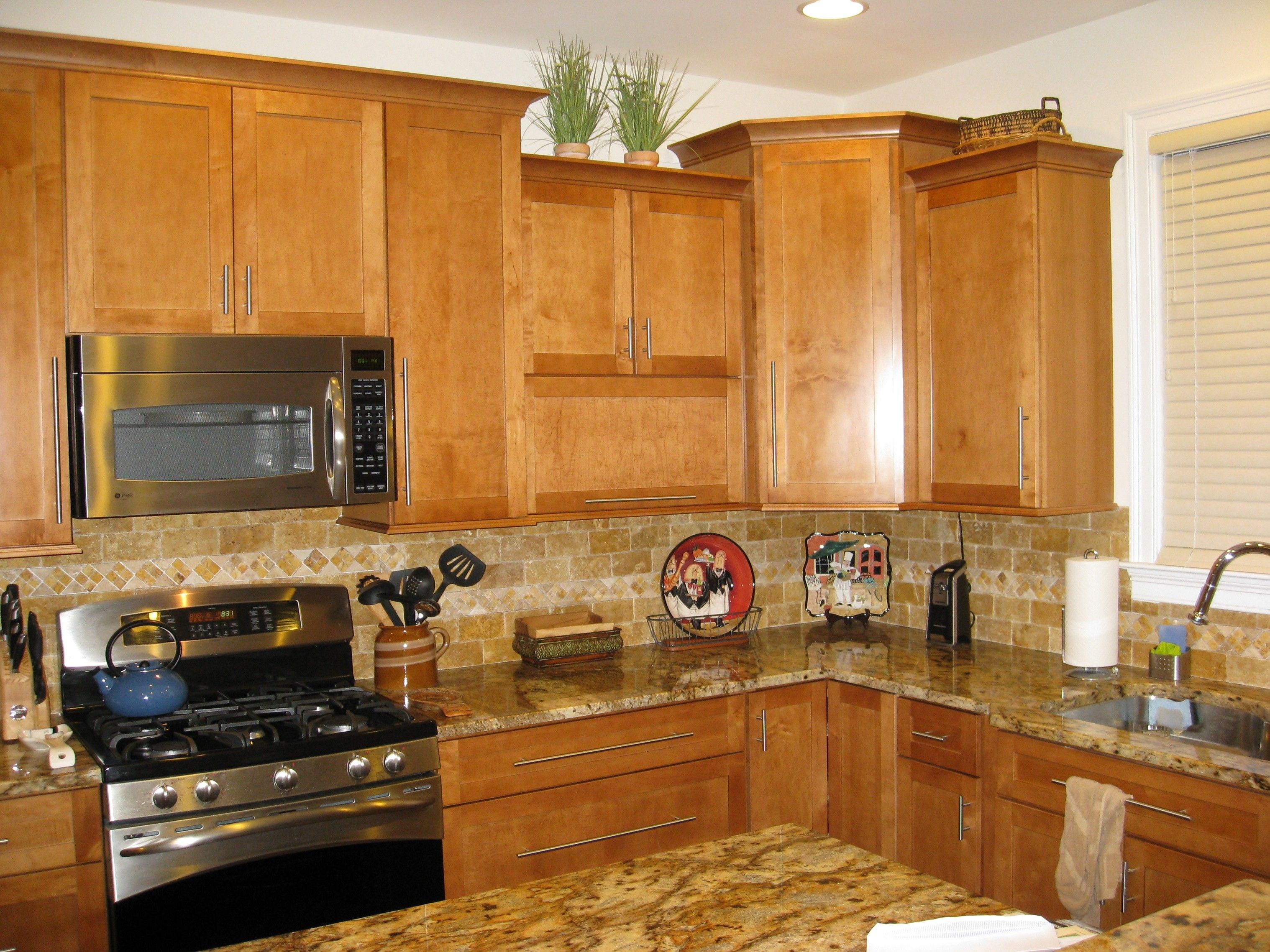 New Venetian Gold Granite Backsplash Ideas Part - 47: Image Result For Light Maple Cabinets With New Venetian Gold Granite · Backsplash  Ideas ...