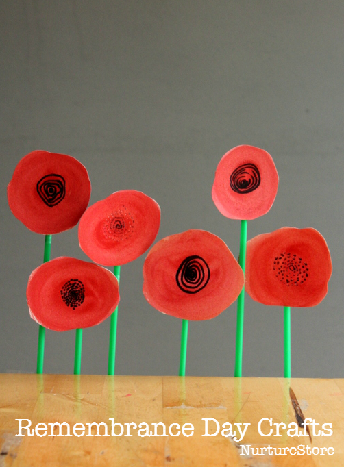 Poppy Wreath Remembrance Day Craft For Children Season Fall