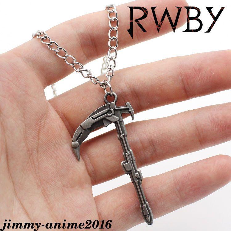 RWBY Keychain Key Rings Weiss Schnee Metal Pendant Cosplay Gift Otaku New