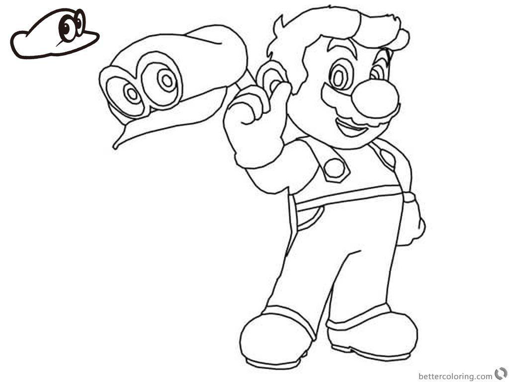 Super Mario Coloring Page Elegant Mario Odyssey Coloring Pages at ...