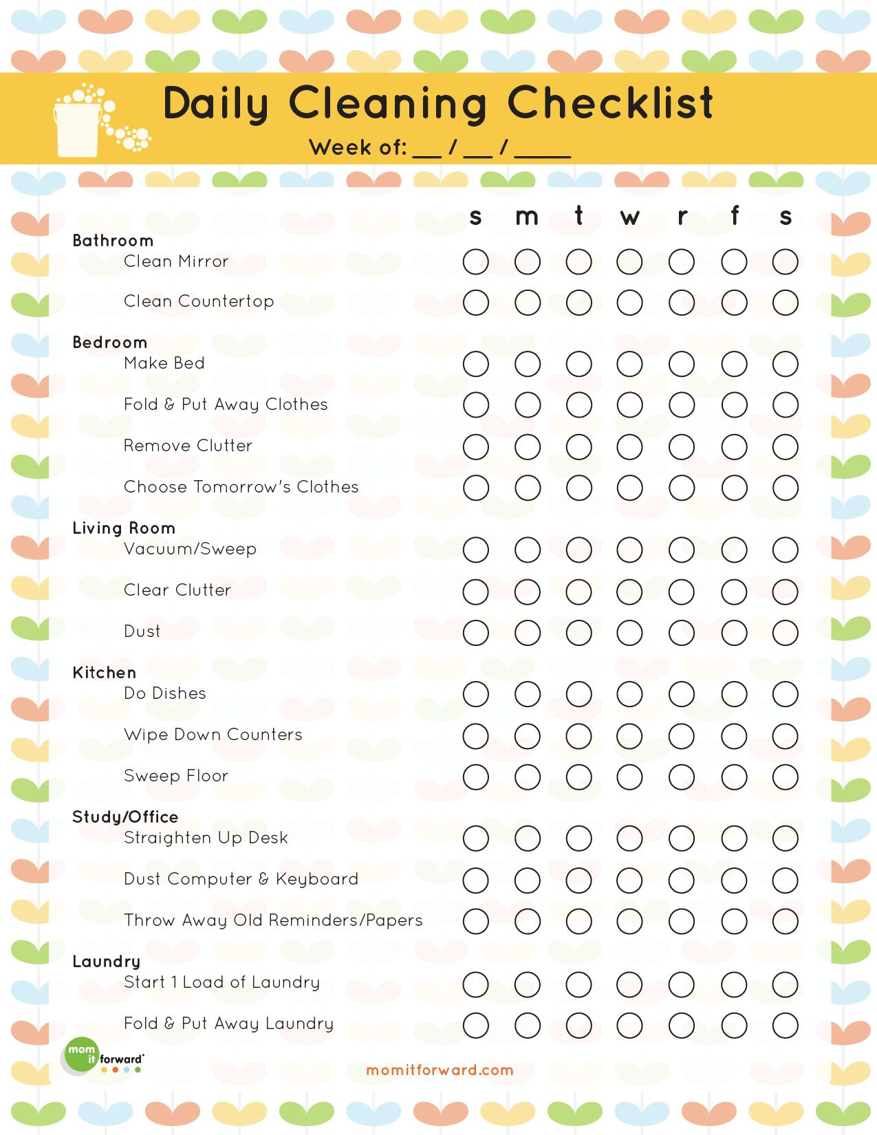 the best free printable cleaning checklists cleaning pinterest