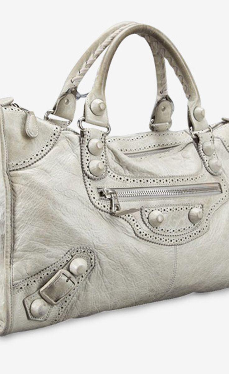 bd998a0534a Balenciaga Natural Covered Leather Brogues City Bag | VAUNTE | Bags ...