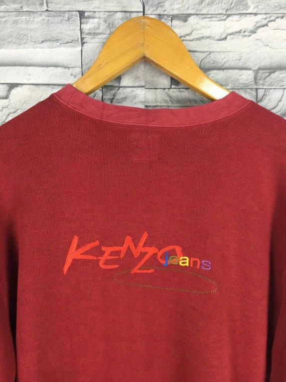 fe2c838e Vintage KENZO GOLF Jumper Medium 90's Kenzo Japan Designer Yamamoto Sweater  Kenzo Neon Big Logo Pull
