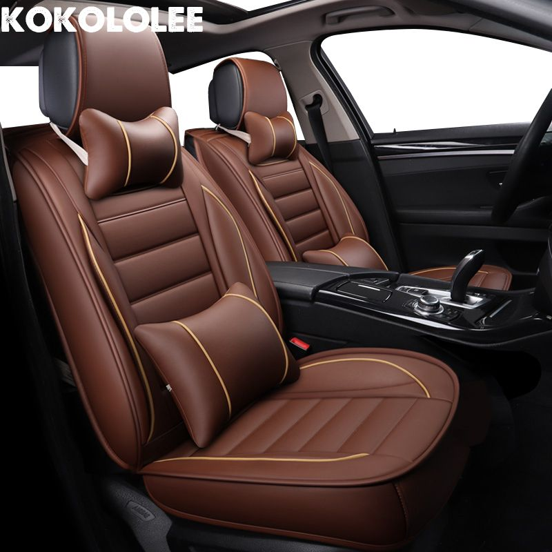 Toyota Land Cruiser Full Set of Luxury BEIGE Leather Look Car Seat Covers