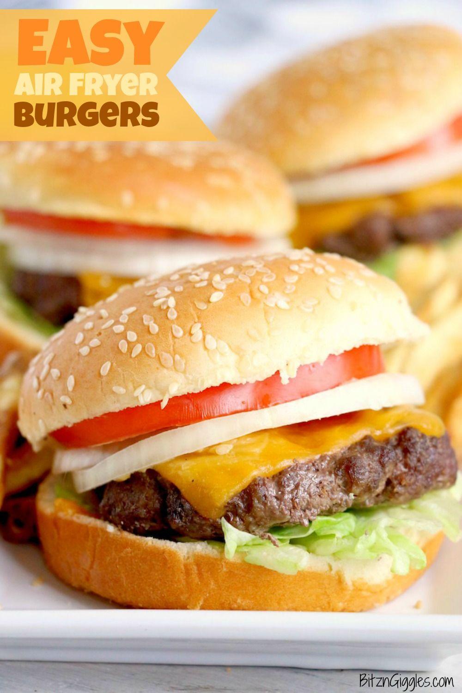 Easy Air Fryer Burgers Recipe Air fryer recipes