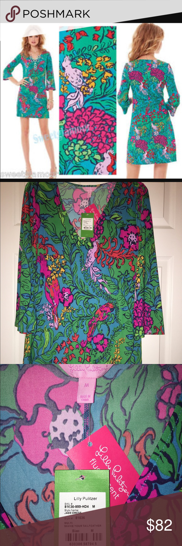 Selling this Lilly Pulitzer shake your tail feathers dress M on Poshmark! My username is: bralla. #shopmycloset #poshmark #fashion #shopping #style #forsale #Lilly Pulitzer #Dresses & Skirts