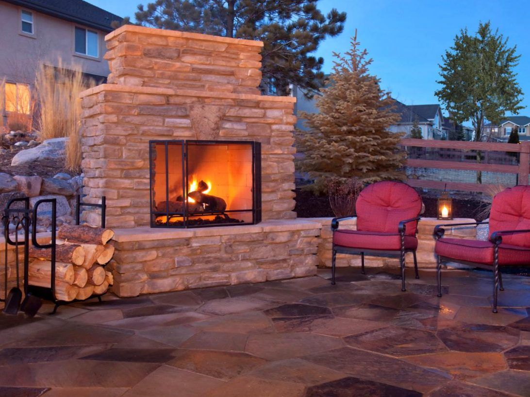 Modische Idee Outdoor Gas Kamin Kamin Backyard Fireplace Outdoor Gas Fireplace Outdoor Fireplace Patio