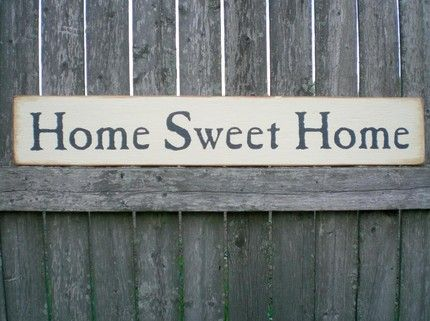 Country Decor Wood Signs Amusing Primitive Wall Decor Wood Sign Home Sweet Home  Primitive Wall Design Decoration