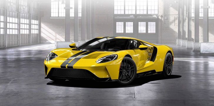 2017 Ford Gt Yellow Wallpaper Ford Gt Super Cars Car Ford
