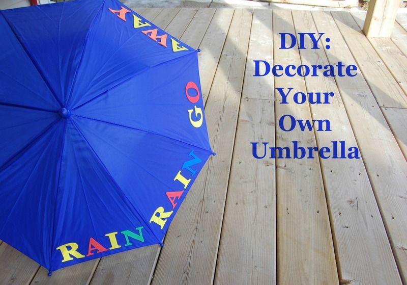 Diy Decorate Your Own Umbrella Northstory Ca