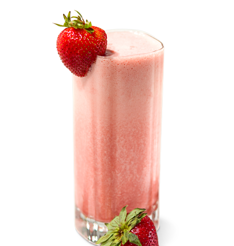 Skinny Strawberry Sunrise Smoothie