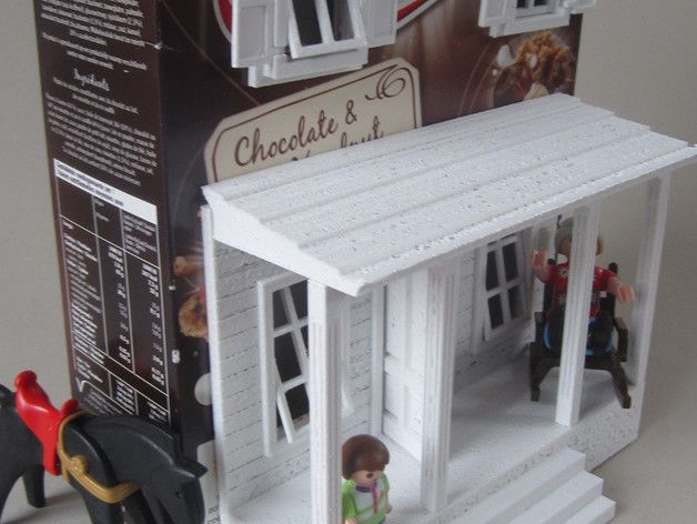 A Farm House version of the cereal box house by Dadhoc. This is the Cereal Box House Designs on waffle box house, making house, cardboard box house, cracker box house,