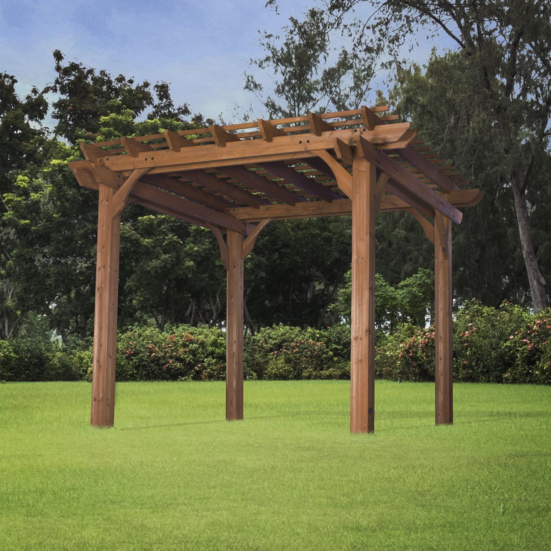 AmazonSmile Backyard Discovery Cedar Pergola 10' by 12