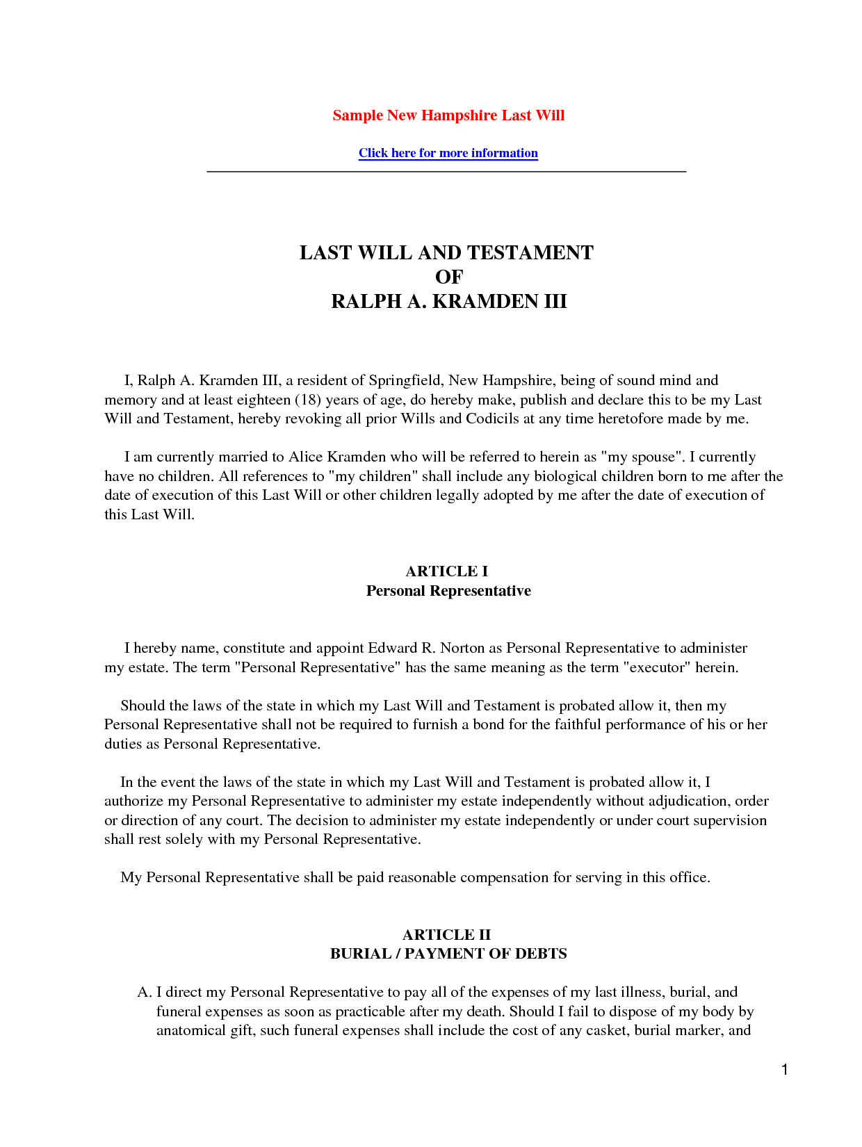 Last Will And Testament Template - Invitation Templates - will and ...