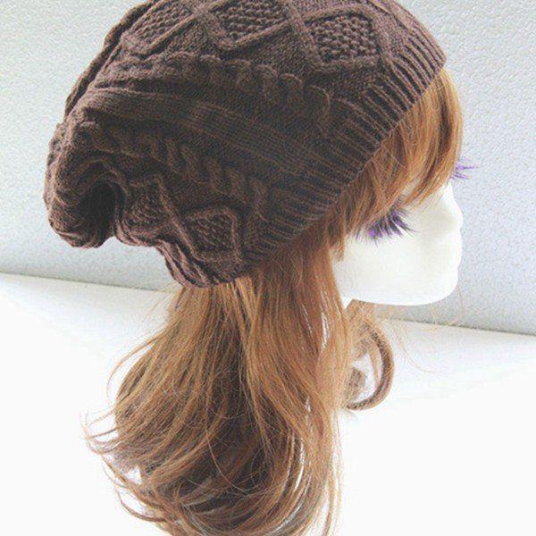 a17e5425406 Women New Design Caps Twist Pattern Women Winter Hat Knitted Sweater  Fashion beanie Hats For Women 6 colors gorros