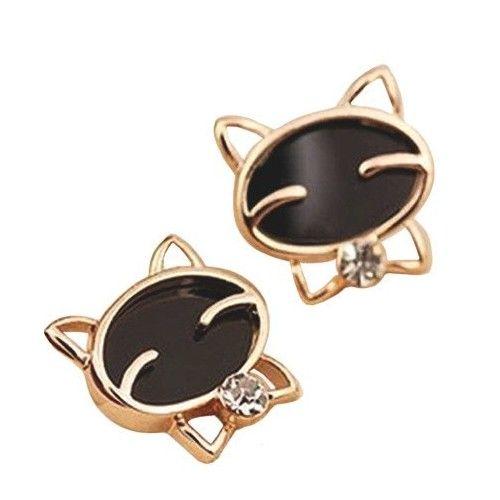fancy cat earrings