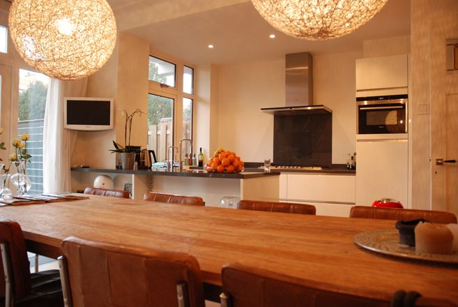 Jaren 30 huis verbouwing keuken pinterest keuken keukens en open keuken - Keuken open concept ...