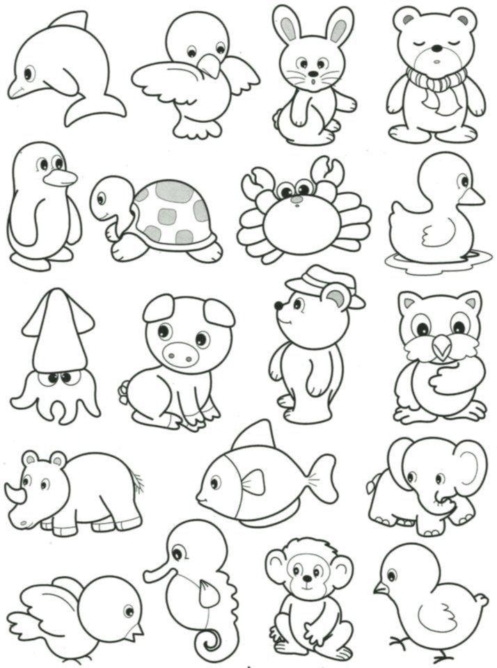 Susse Kleine Tiere Zum Ausmalen Ausmalen Und Malvorlagen Ausmalen Fabricpaintingcartoon Tiere Zum Ausmalen Ausmalbilder Zum Ausdrucken Tiere