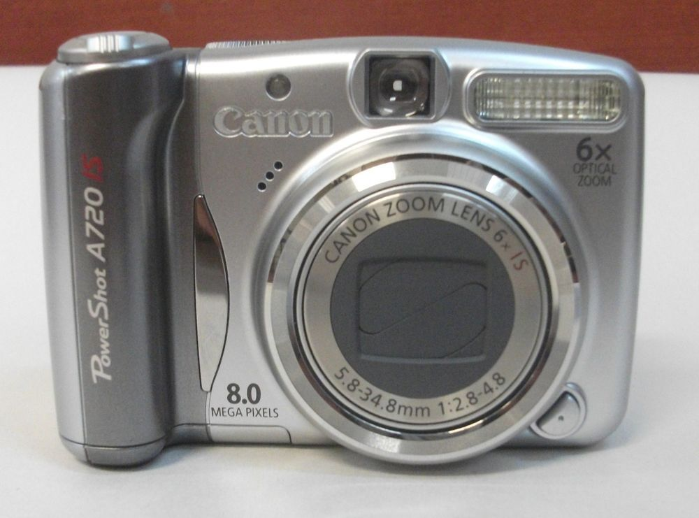 Canon Powershot A720 Is 8 Mp Digital Camera 6x Optical Zoom With Carrying Case Canon Powershot Canon Powershot Digital Camera