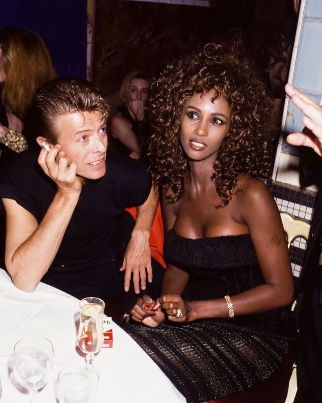 Music Monkeys On Instagram Classy Iman And David Bowie David Bowie Starman Iman Bowie