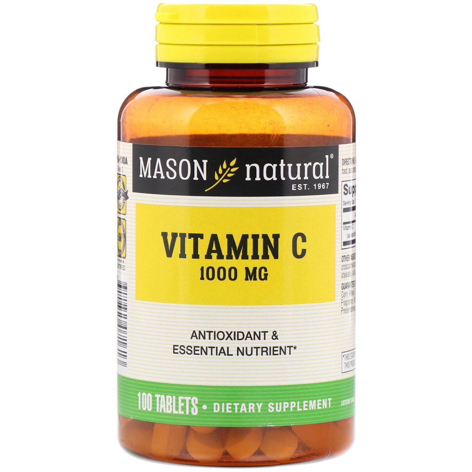 Mason Natural, Vitamin C, 1,000 mg, 100 Tablets (с