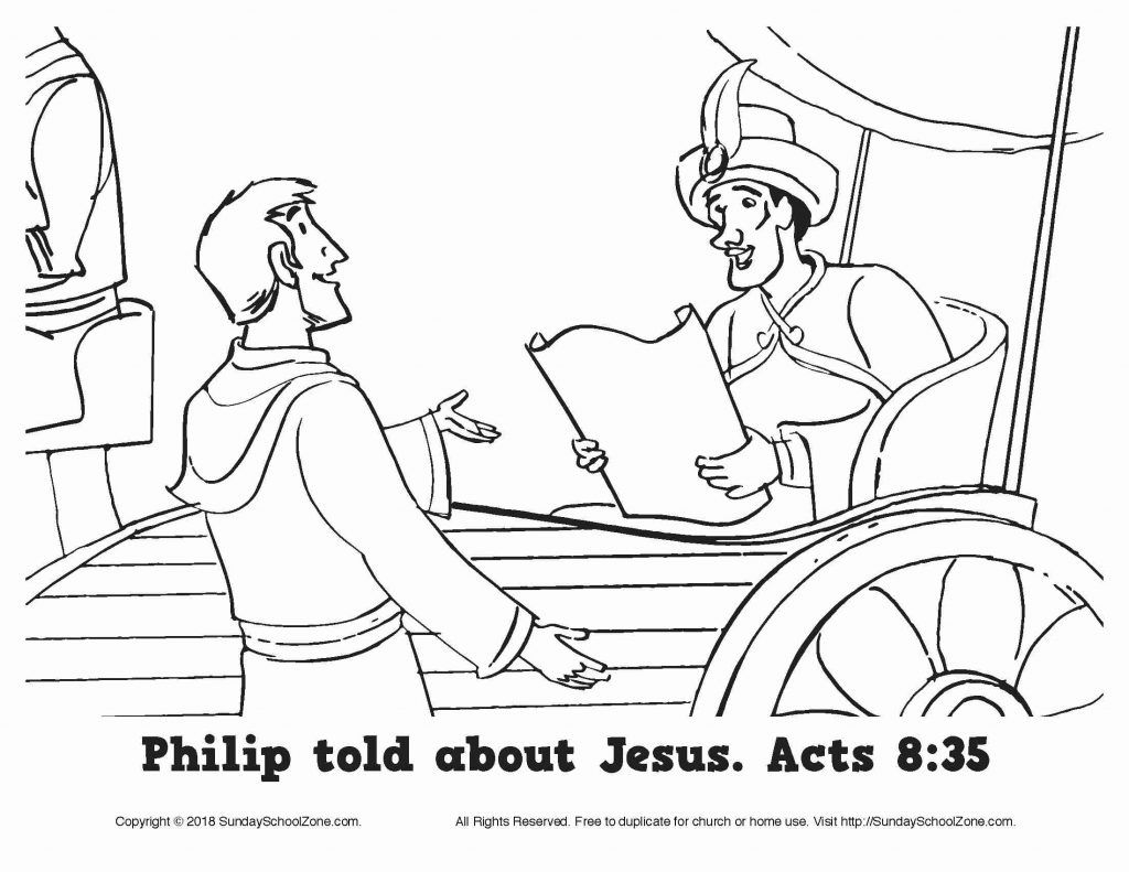 Best Free Coloring Pages Philip And The Ethiopian Page Toddler