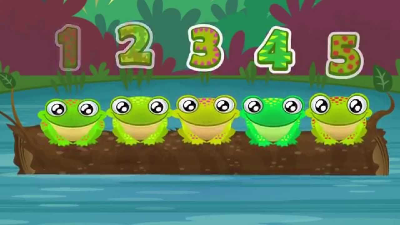5 Green and Speckled Frogs | Song for Children using this tune for ...
