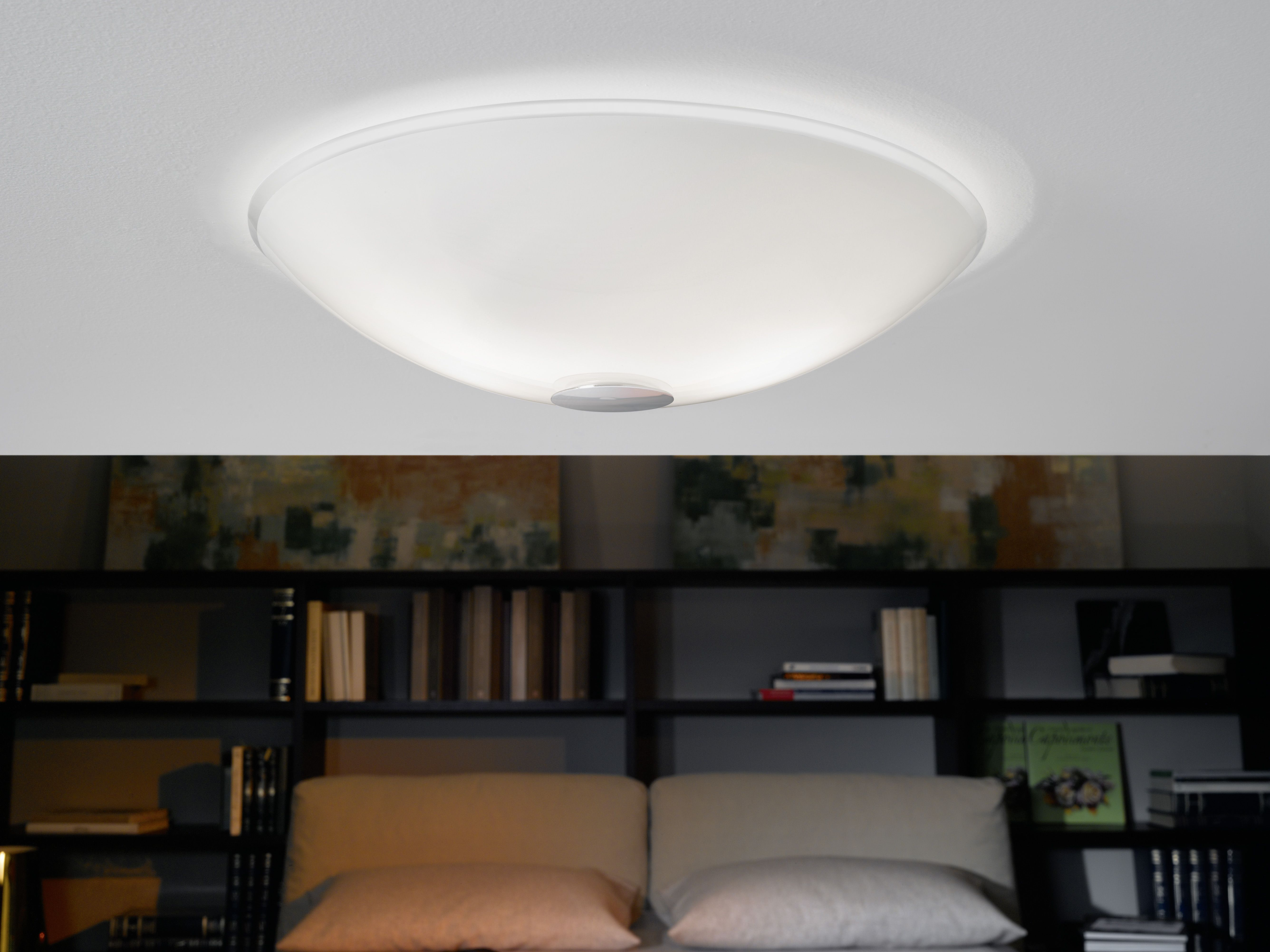 Flush Ceiling Light With Glass Diffuser Cm Kitchen Lighting -  flush kitchen lighting