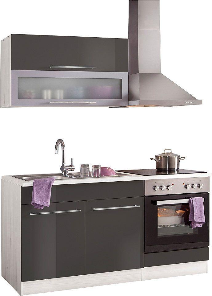 Küchenzeile 160 cm  Küchenzeile, Held Möbel, »Avignon«, mit E-Geräten, Breite 160 cm ...