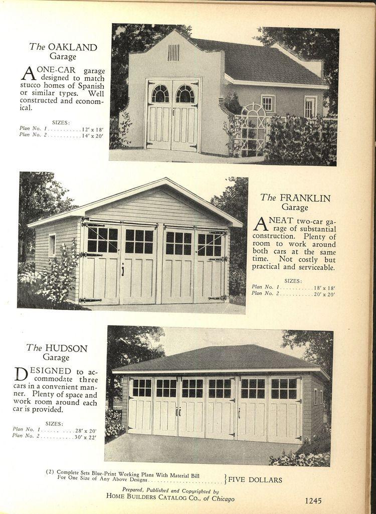 1928 Home Builders Catalog Garage Door Design Vintage House Plans Garage Design