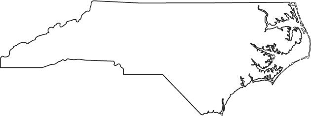 Blank Map Of NC - Google Search