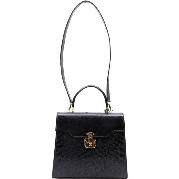 Pre-owned Gucci Kelly Top Handle Black Tote Bag (€2.495) ❤ liked on Polyvore featuring bags, handbags, tote bags, black, leather purses, leather tote handbags, leather tote, handbags totes and tote handbags