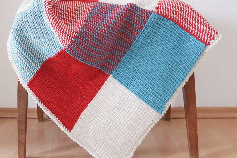 Tunisian Crochet Baby Blanket - free pattern // Kostenlose ...