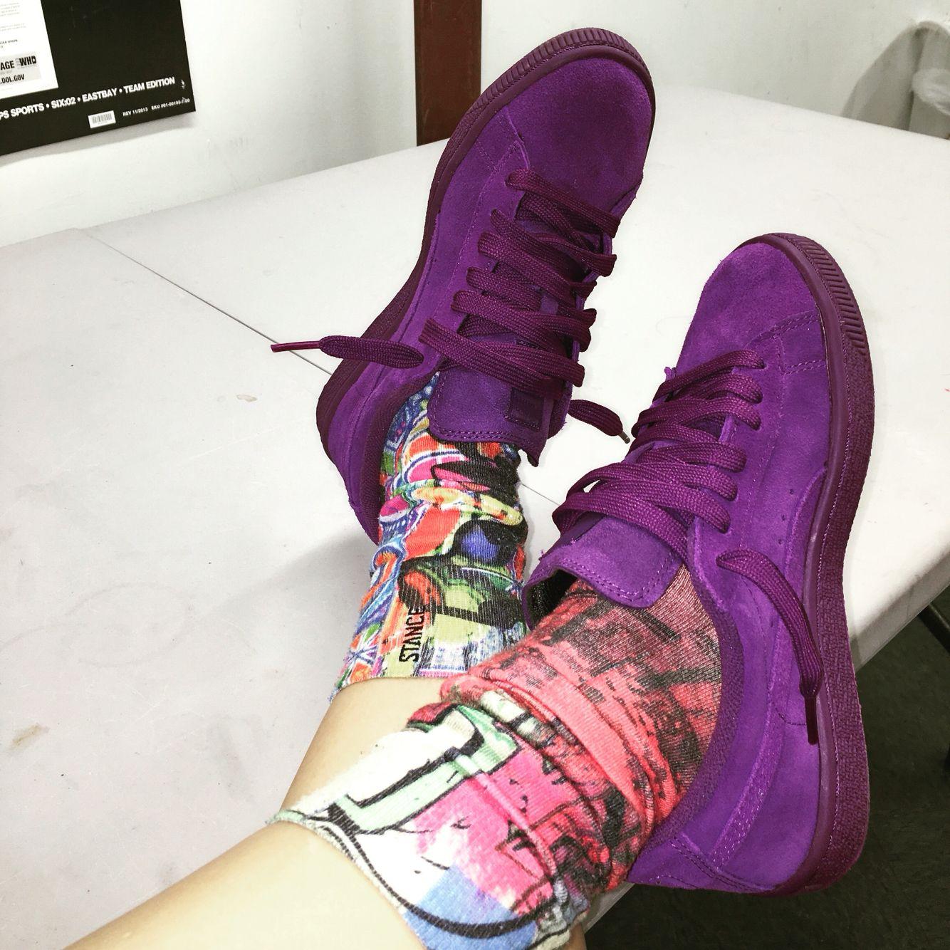 Purple puma suede | Kicks shoes, Puma