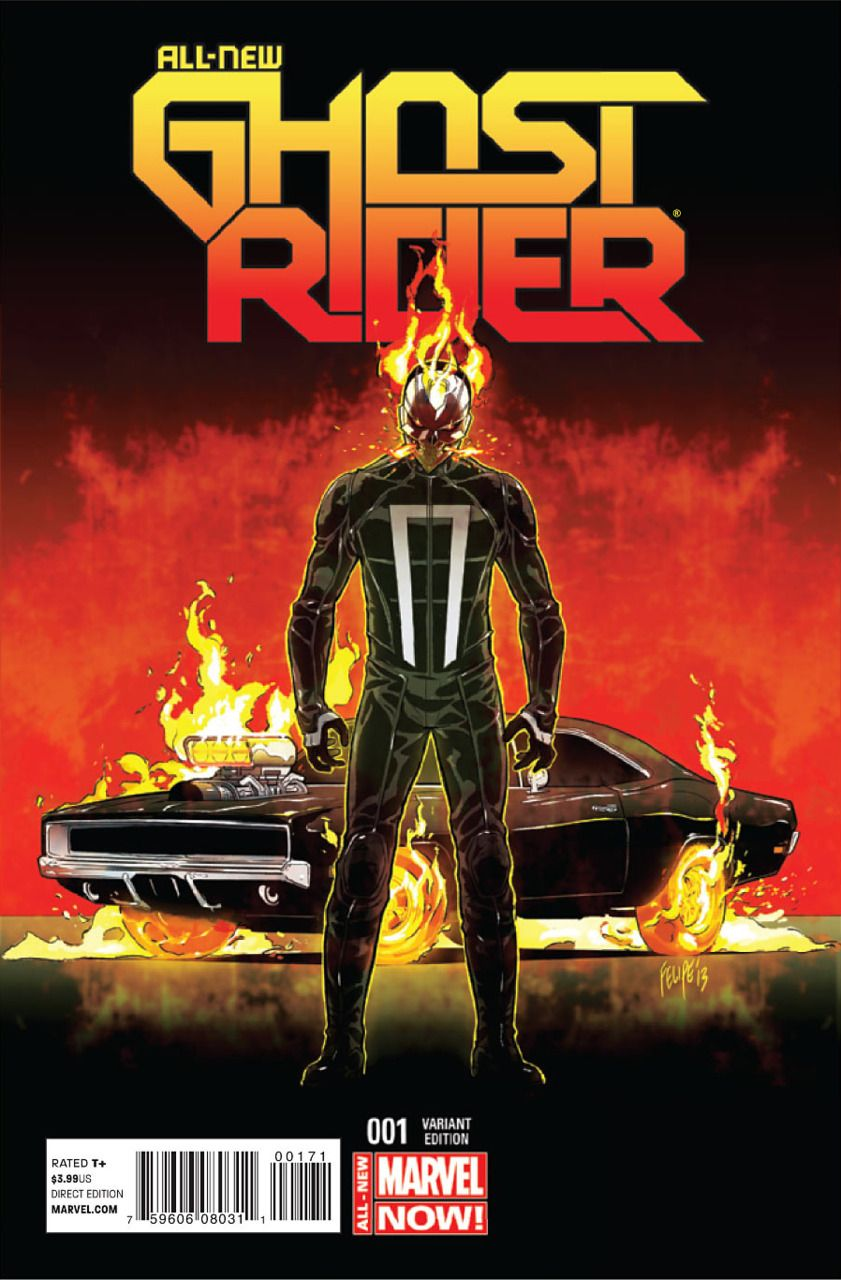 First Robbie Reyes Marvel All-New Ghost Rider #1 Comic Book