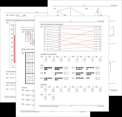 Math Worksheet Maker For Teachers Math Resource Studio Math Math Resources Printable Math Worksheets