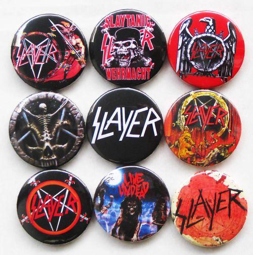 Heavy metal buttons | BUTTONS PINS SLAYER BIG FOUR THRASH METAL MEGADETH ANTHRAX DRI SHIRT ...