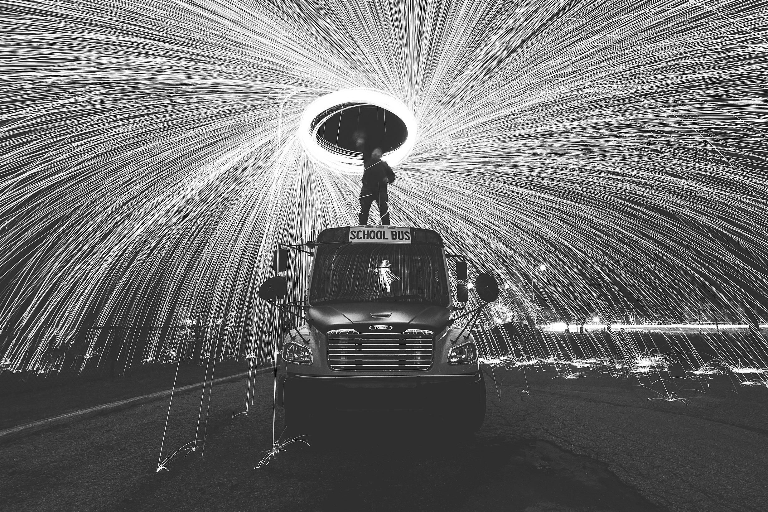 ITAP Steelwool and a School Bus!! (With images) School