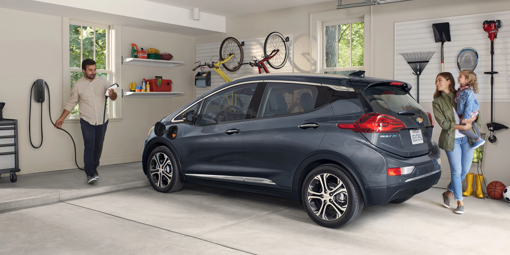 The 2020 Chevy Bolt EV is an affordable All Electric Car at Chevrolet Cadillac of Santa Fe: www.chevroletofsantafe.com.